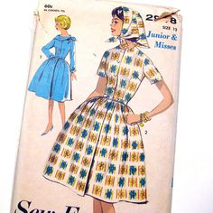 Vintage 1960s Sewing Pattern Advance 2948 Misses' by SelvedgeShop