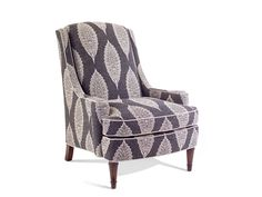 Shop for John Richard Chair-Plush Down Cushion-No Skirt, SOC-1001-10-H754, and other Living Room Chairs at High Country Furniture & Design in Waynesville, NC - North Carolina. Shown With H754 Fabric Inside Seat 24''W X 21''D, Seat 21'' H, Arm 23'' H Nail Head Trim Option - $50 upcharge - 1 Brass 2 Old Gold 3 Nickel Plated 4 Pewter.