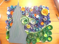 4th grade art project,  starry night