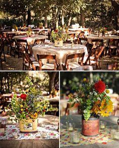 outdoor farm receptions | Fun Farmers Market Inspired Wedding: Chelsea + Dillon