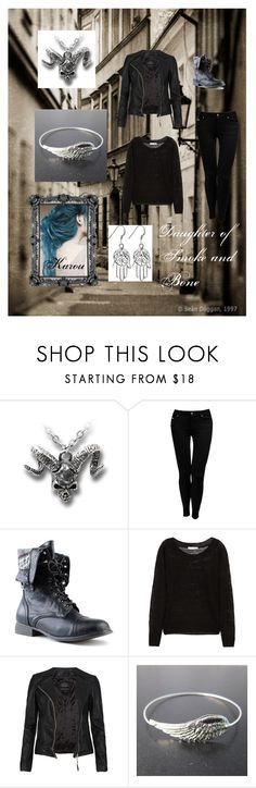 """""""Daughter of Smoke and Bone - Karou"""" by wolf-jamey ❤ liked on Polyvore featuring Jane Norman, Kain, AllSaints and daughter of smoke and bone"""