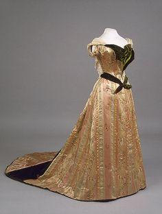 House of Worth, Evening Dress Worn by Empress Maria Fyodorovna. Paris, 1890s.
