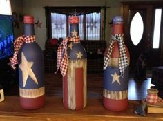 60 Cool Wine Bottles Craft Ideas : Don't toss those old wine bottles; instead use them in a variety of Cool Wine Bottles Craft Ideas. Create lamps, decorative items, and cute ornaments to simply lighten up your home. Old Wine Bottles, Wine Bottle Art, Painted Wine Bottles, Decorative Wine Bottles, Beer Bottle, Recycled Bottles, Liquor Bottles, Vodka Bottle, Mason Jar Crafts