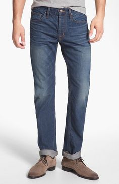 Asbury Park 'Signature' Monte Carlo Fit Straight Leg Jeans (Monterey) available at #Nordstrom