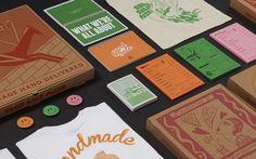 Yard Sale Pizza / Brand Identity  Printed menus, boxes, staff manual, flyers and merchandise for the London based pizzeria.  Illustrations by Hattie Stewart. Omar Hraib, ZEBU, Lynnie Zulu.