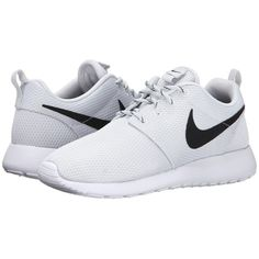 Nike Roshe Run ($75) ❤ liked on Polyvore featuring shoes, athletic shoes, nike, sneakers, & - clothing - shoes, sneakers & athletic shoes, grip shoes, nike footwear, lace up shoes and lightweight shoes