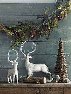 Woodland Christmas Decor - Rustic Christmas Decorations - Country Living