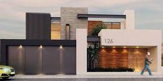 Fachada: Casas de estilo moderno por Besana Studio