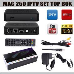 MAG 250 BOX Multimedia player Internet 1080p TV Box IPTV ... Multimedia, Netflix, Internet, Tv, Digital, Television Set, Television