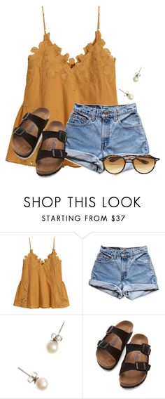 """""""~we were made to thrive~"""" by flroasburn ❤ liked on Polyvore featuring H&M, Levi's, J.Crew, Birkenstock and Ray-Ban"""
