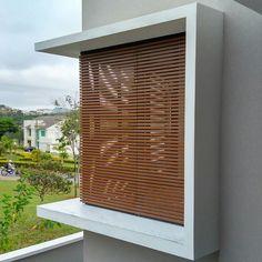Blinds, New Homes, Curtains, Ideas, Home Decor, Verandas, Windows, Wood Slats, Air Conditioners