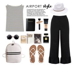 """Airport Style"" by gul07 ❤ liked on Polyvore featuring Yves Saint Laurent, Billabong, Vera Bradley, Warehouse, Jayson Home, Avon, Lapcos, Maybelline and airportstyle"