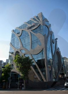 """KTandG Sangsangmadang (meaning """"Imagination Grounds""""), an indie culture hub in the hip Hongdae area, Seoul, South Korea. 7-story cultural complex building with 4-story basement."""
