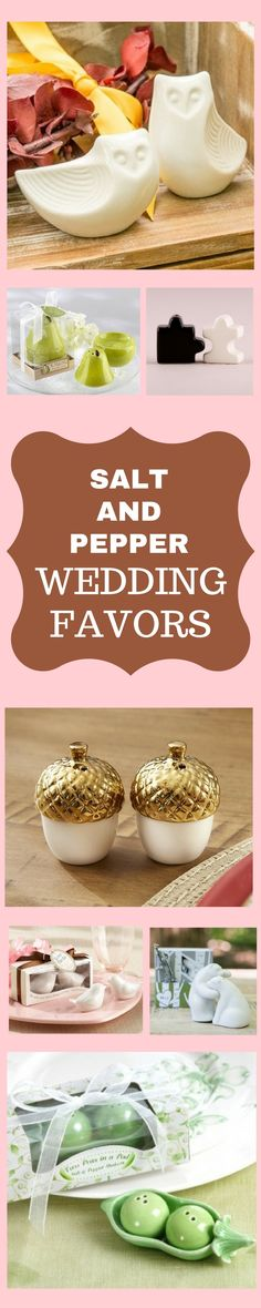 LOVE these salt and pepper wedding favors