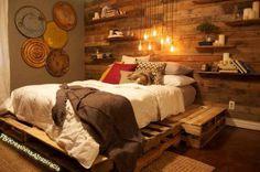 Romantic pallet bed