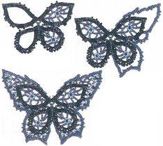 Beaded butterfly PATTERN necklace