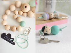 DIY: Schlüsselanhänger aus Holzperlen   Maditas Haus   Lifestyle und Interior Blog