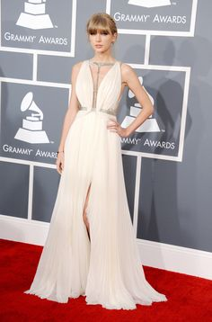 Taylor Swift in J. Mendel #Grammys