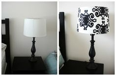 Lampshade from drab to fab