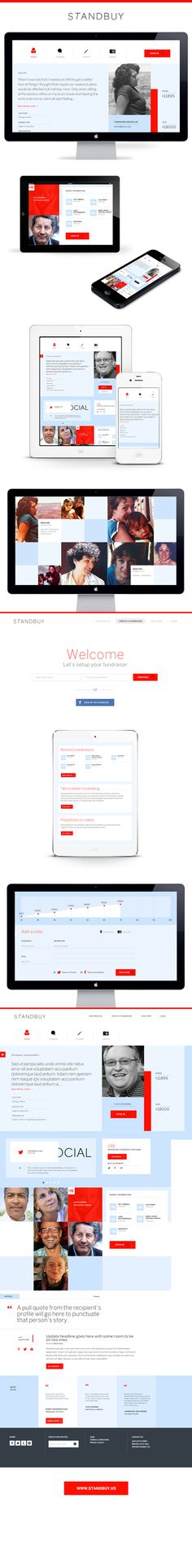 Standbuy Fundraiser Platform Website Design | Multi-Device Responsive Layout