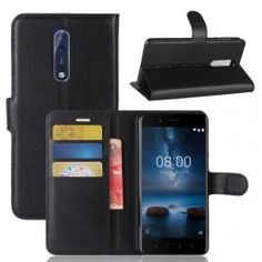 Nokia 8 musta puhelinlompakko