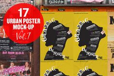 Urban Poster Mock-up VOL.7 by Eleven on Creative Market