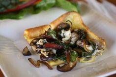Swiss Chard and Mushroom Popover Bake-- gluten free