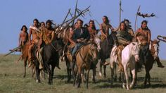 Dances with wolves - Kevin Costner - 1990 Native American Movies, Native American Images, Native American Indians, Native Indian, American Life, Kevin Costner, Marlon Brando, Sioux, Wolf Movie