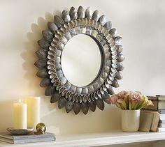 Bethany Round Shell Mirror | Pottery Barn