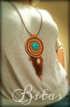 BOHO CHIC gipsy MANDALA crochet necklace boho by Bitas Bangles Facebook