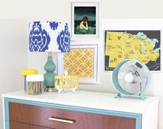 How to Style a Highboy Dresser | Teal and Lime by Jackie Hernandez