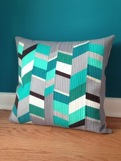 sewkatiedid/stripped pillow from design seeds workshop series