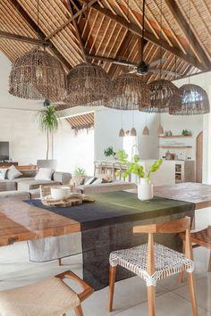 Tropical Interior, Tropical Home Decor, Tropical Houses, Tropical House Design, Tropical Kitchen, Boho Kitchen, Kitchen Design, Kitchen Ideas, Home Design