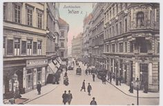 Tuchlauben, 1900 Austro Hungarian, Hungary, Vienna, Maui, The Past, Photographs, Old Things, Street View, Black And White