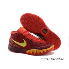 0c777bb9f7b3 Nike Kyrie 1 Custom Red Yellow Basketball Shoes For Sale