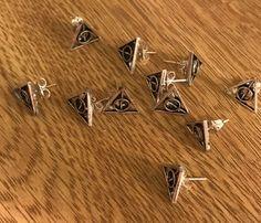 Hallows Stud Earrings Harry Potter by EmisAmis on Etsy