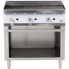 Cooking Performance Group Gas Radiant Charbroiler with Cabinet Base - BTU Gas Supply, Summer Kitchen, Kitchen Appliances, The Unit, Cabinet, Cooking, Simple, Base, Group