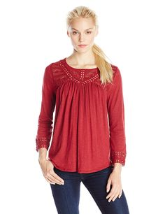 Lucky Brand Women's Chevron Lace Top * This is an Amazon Affiliate link. Check out this great product.