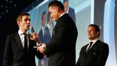 All Blacks centre Sonny Bill Williams has been presented with another winners medal by World Rugby after giving his award to a young fan after yesterday's Rugby World Cup final. Williams gave his medal to the boy after he ran onto the field after the game and was tackled by a security guard. Williams said it was better that the medal was around his neck rather than on his wall at home. He was presented with a replacement at the World Rugby Awards, being held in London. (02 Nov 2015)