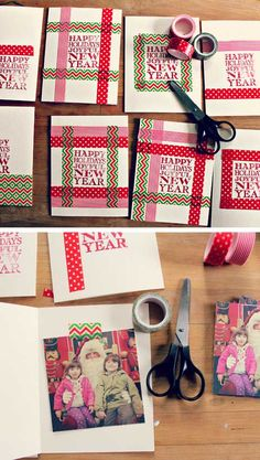 Homemade Christmas Cards: Washi Tape Holiday Cards Make memorable homemade christmas cards using washi tape and a stamp!Make memorable homemade christmas cards using washi tape and a stamp! Christmas Card Crafts, Homemade Christmas Cards, Xmas Cards, Diy Cards, Homemade Cards, Handmade Christmas, Holiday Cards, Christmas Snowflakes, Christmas Holiday
