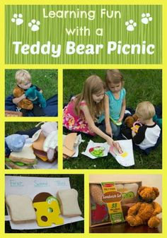 Pretend Play: Teddy Bear picnic for picnic picnic Educational Activities For Kids, Preschool Education, Preschool Themes, Classroom Activities, Fun Learning, Preschool Library, Camping Activities, Therapy Activities, Classroom Ideas