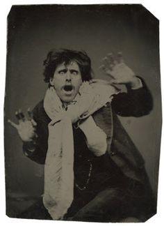 ca. 1870-79, [tintype portrait of a pantomimist]    via the Metropolitan Museum of Art, Photographs Collection