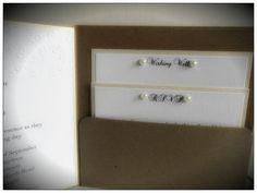 Rustic vintage pocketfold wedding invitation by VintageCraftsNZ, $6.00