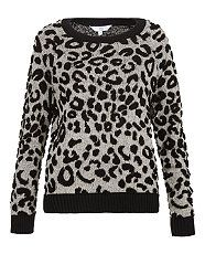 White Pattern (White) Grey Leopard Print Crop Top | 289612619 | New Look <3