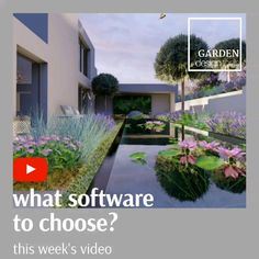 This weeks video I will be talking about the different software's available specially thinking about garden designer's and landscape architects. design videos This weeks video I will be talking about the different software's! Home Garden Design, Home And Garden, Square Foot Gardening, Garden Painting, Garden Boxes, Types Of Plants, Pictures To Paint, Dream Garden, Tool Design