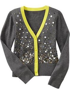 Girls Sequined Cardigans $26.94 at oldnavy.com