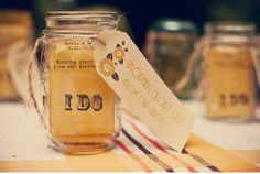 Personalized wedding favors. Seed packets can be filled with the state flower of the place where you met the recipient