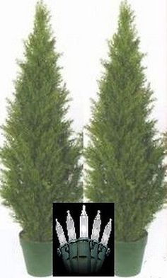 """2 artificial 48"""" outdoor cedar #topiary tree christmas #lights 4' #cypress pine p,  View more on the LINK: http://www.zeppy.io/product/gb/2/110972140602/"""
