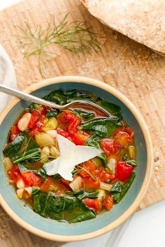 Italian White Bean Soup. It's remarkably delicious – we like to call it liquid pizza (really!).