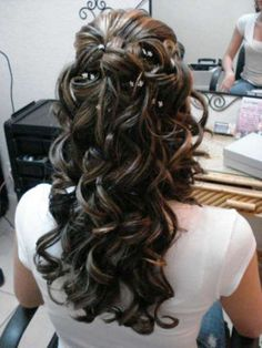 most beautiful half up wedding hairstyles with small accessories
